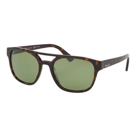 Women's PR23VSF-2AU7Y1 Polarized Sunglasses // Havana + Polar Green