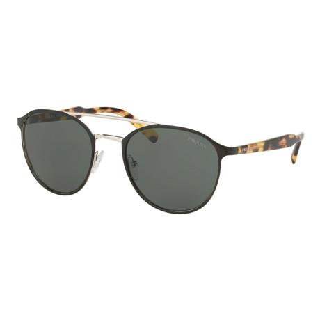 Women's PR62TS-5243O1 Sunglasses // Matte Black + Silver + Havana