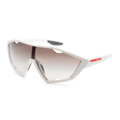 Men's PS10US-TWK5O030 Linea Rossa Sunglasses // White Rubber + Brown Gradient