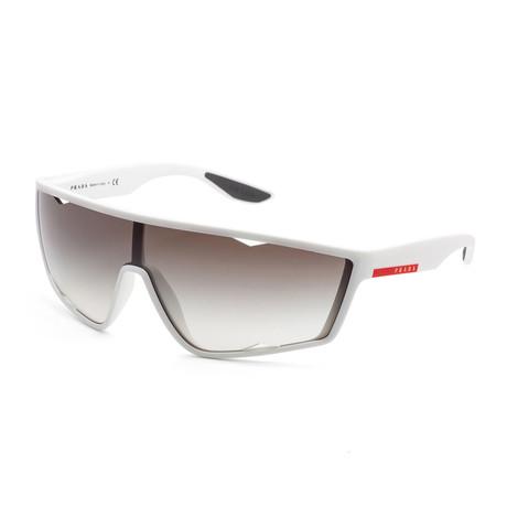 Men's PS09US-TWK5O040 Linea Rossa Sunglasses // White Rubber + Brown Gradient