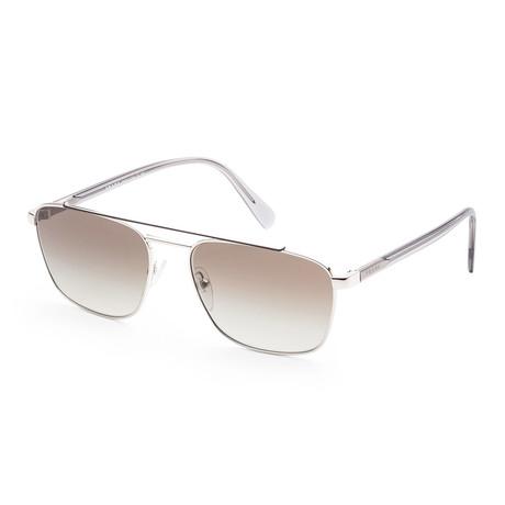 Men's PR61US-Y7B5O259 Sunglasses // Silver + Brown