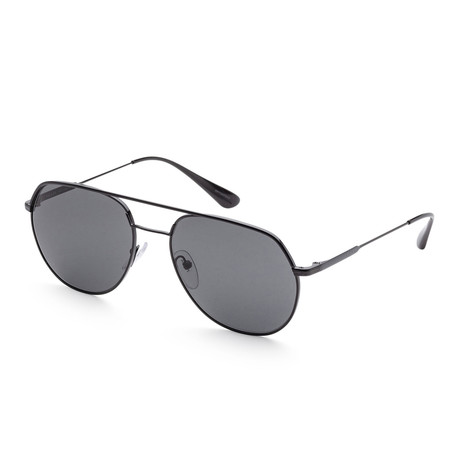 Men's PR55US-1AB5S057 Sunglasses // Black + Dark Gray