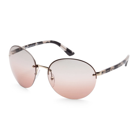 Men's PR68VS-ZVN75661 Sunglasses // Havana + Pink Gradient