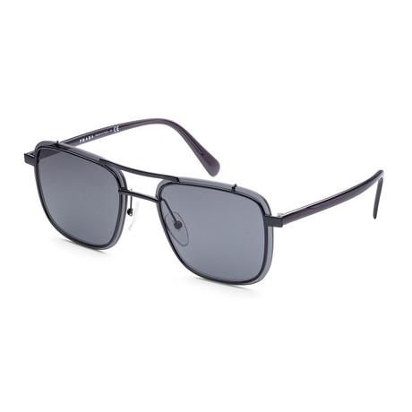 Men's PR59US-1AB5S059 Fashion Sunglasses // Black + Gray