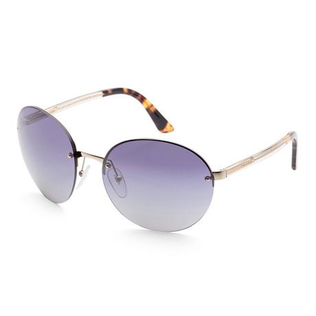 Men's PR68VS-ZVN3A061 Sunglasses // Pale Gold + Blue Gradient