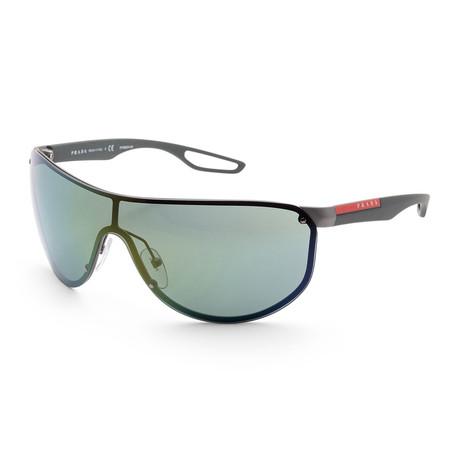 Men's PS61US-3C03C040 Linea Rossa Sunglasses // Gunmetal Rubber + Light Green Mirror
