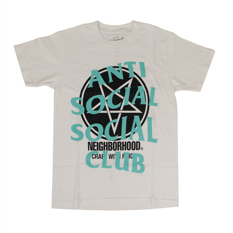 ANTI SOCIAL SOCIAL CLUB X NEIGHBORHOOD Filth Fury T-Shirt // White (S)