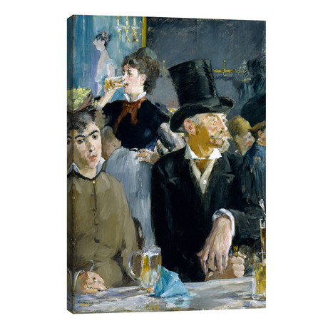 "At The Café // Edouard Manet (26""W x 40""H x 1.5""D)"