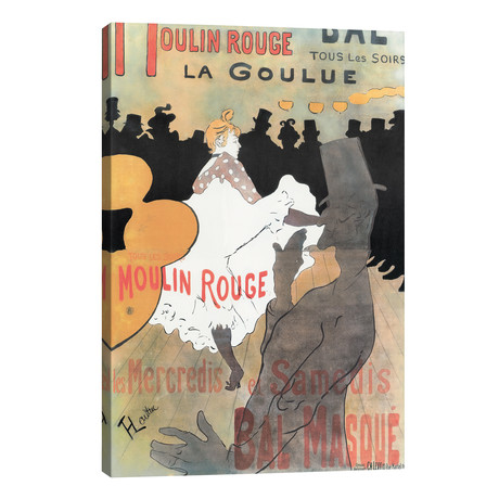 Moulin Rouge: La Goulue Advertisement, 1891 // Henri de Toulouse-Lautrec