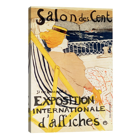 "Poster advertising the 'Exposition Internationale d'Affiches', Paris, c.1896 // Henri de Toulouse-Lautrec (26""W x 40""H x 1.5""D)"
