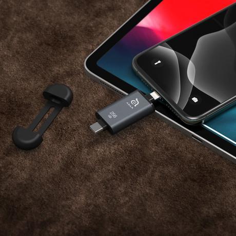 iKlips C Apple Lightning/USB-C Flash Drive // 256GB (Red)