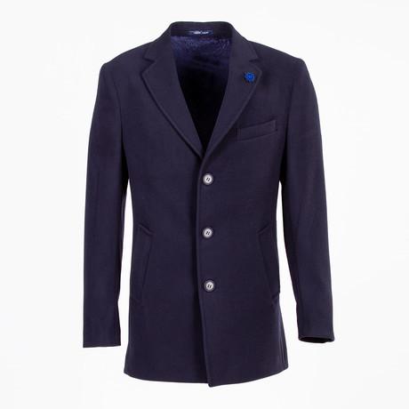 Jax Wool Coat // Dark Blue (Euro: 46)