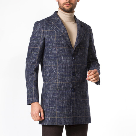 Grayson Wool Coat // Dark Blue (Euro: 46)