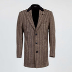 Aiden Wool Coat // Black + Beige (Euro: 56)