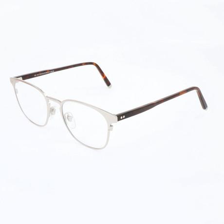 Men's N. 37 Argento GMX Optical Frames // Silver