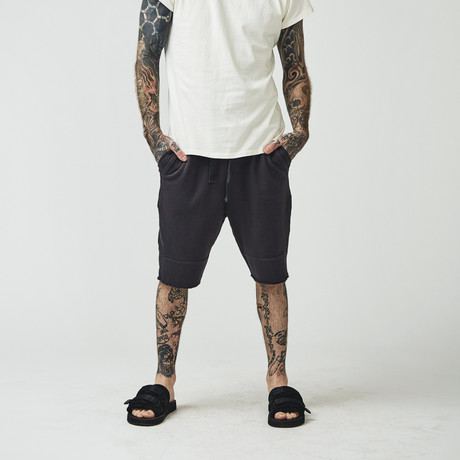 Mansie Sweat Shorts // Oden Black (Small)