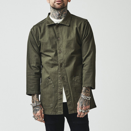 Tenchi Japanese Jacket // Hexa Green (X-Small)