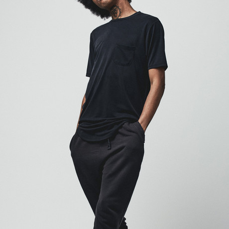 Nihon Luxury Pocket T // Waxen Black (Small)