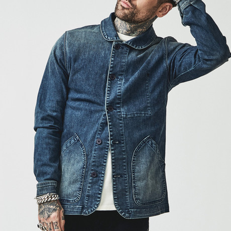 Miki Japanese Chore Coat // Denim (X-Small)