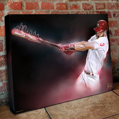 "Phillies Bryce Harper // Philly Loaded // Canvas (20""W x 16""H x 1.5""D)"