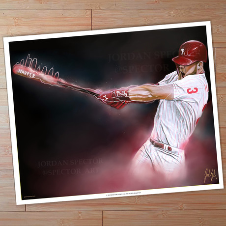 Phillies Bryce Harper // Philly Loaded // Art Print