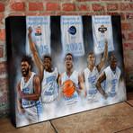 "North Carolina Basketball // Roy Williams Point Guard Dream Team // Canvas (16""H x 24""W x 1.5""D)"
