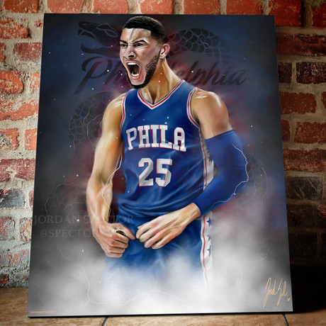 "Sixers // Fresh Prince // Canvas (20""W x 16""H x 1.5""D)"