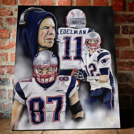 "Patriots // The Dynasty // Canvas (20""W x 16""H x 1.5""D)"
