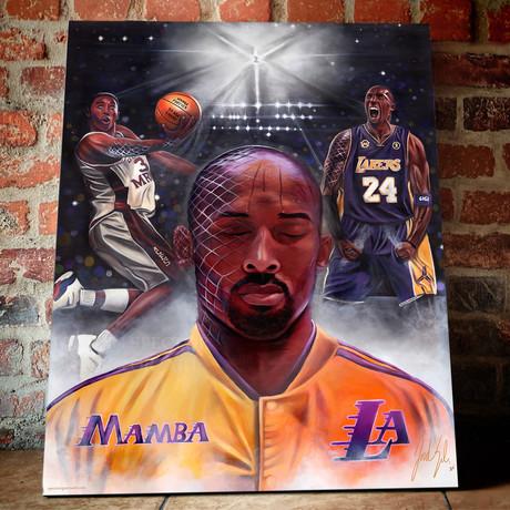 "Kobe Bryant // Mamba Mentality // Canvas (16""H x 20""W x 1.5""D)"