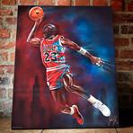 "Michael Jordan // Goat Legacy // Canvas (16""H x 20""W x 1.5""D)"