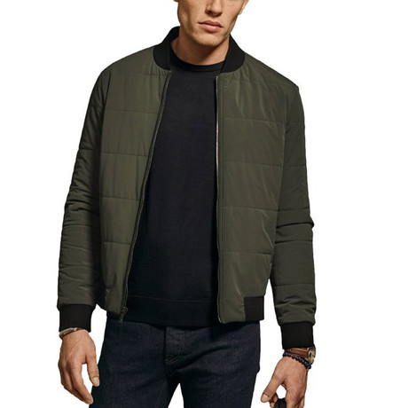 Banks Quilted Bomber // Olive Green (S)