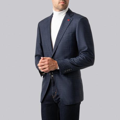 Ashton Sport Jacket // Dark Blue + Gray (US: 38S)