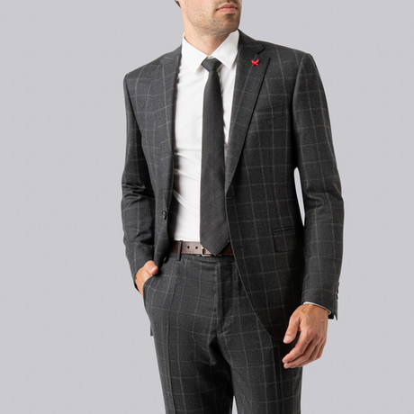 Westbury Suit // Charcoal Windowpane (US: 38R)