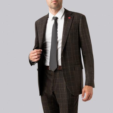 Westbury Suit // Beige Windowpane (US: 38R)