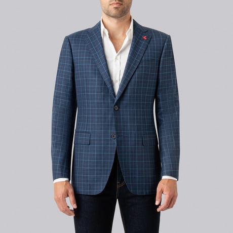 Ashton Sport Jacket // Blue + Navy + Teal (US: 38S)