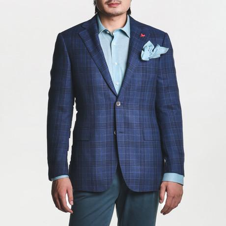 Ashton Sport Jacket // Blue + Black Plaid (US: 38R)