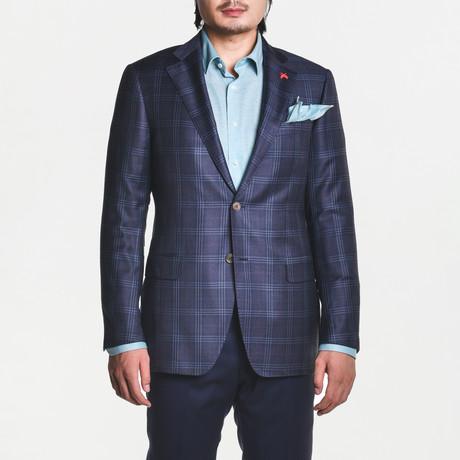 Ashton Sport Jacket // Gray + Blue + Berry (US: 38S)
