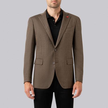 Augustus Sport Jacket // Brown Herringbone (US: 38R)