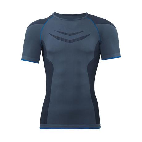Unisex Thermal Crewneck T-Shirt // Anthracite (S)