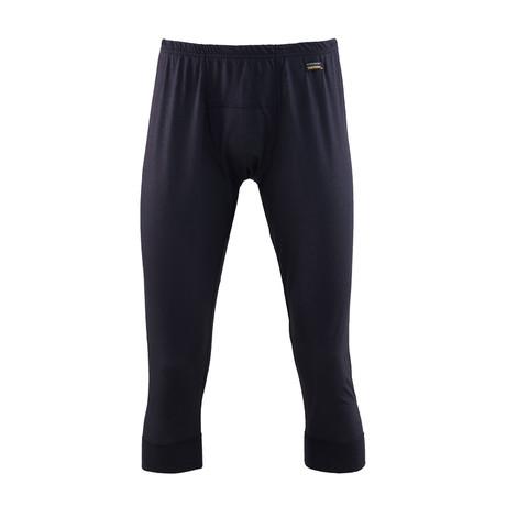 Men's Thermal Cropped Long Pants // Black (S)