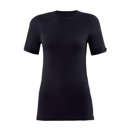 Crewneck Short Sleeve Unisex Thermal T-Shirt // Black (S)