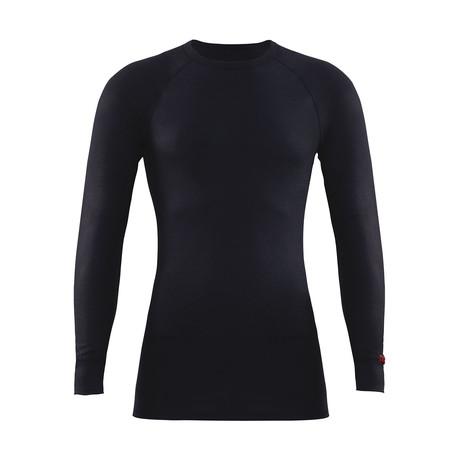 Crewneck Long Sleeve Unisex Thermal T-Shirt // Black (S)