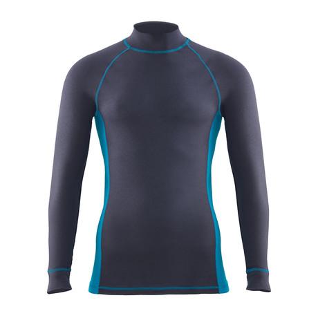 Mockneck Unisex Thermal T-Shirt // Anthracite (S)