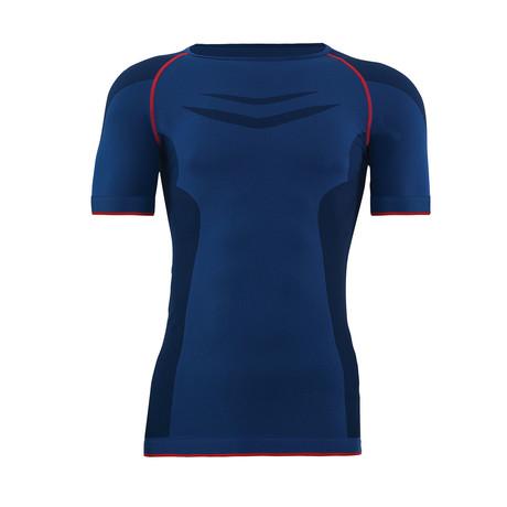 Unisex Thermal Crewneck T-Shirt // Navy (S)