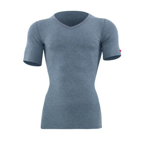 Short Sleeve Unisex Thermal T-Shirt // Gray Melange (S)