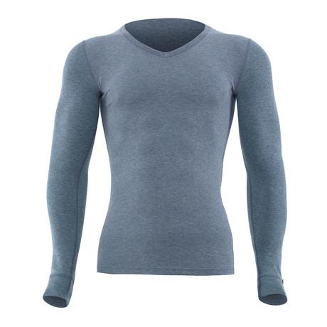 Long Sleeve Unisex Thermal T-Shirt // Gray Melange (S)