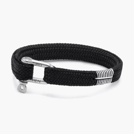 Sharp Simon // Black // Silver Clasp (M)