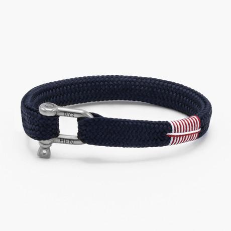 Sharp Simon // Navy // Silver Clasp (M)