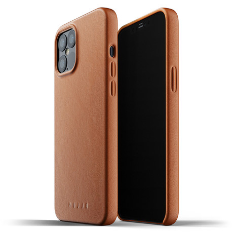 Full Leather iPhone 12 Pro Max Case (Tan)