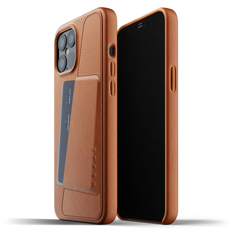 Full Leather iPhone 12 Pro Max Wallet Case (Tan)